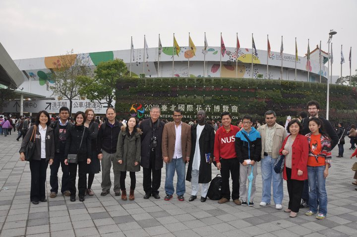 Visiting 2010 Taipei International Flora Expo.